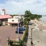 Vista del santuario y el río de Nobol. Fuente: Seproyco